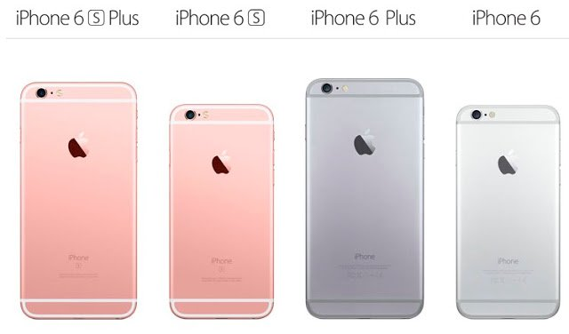 Perbandingan iPhone 6 vs 6S , 6 Plus vs 6S Plus