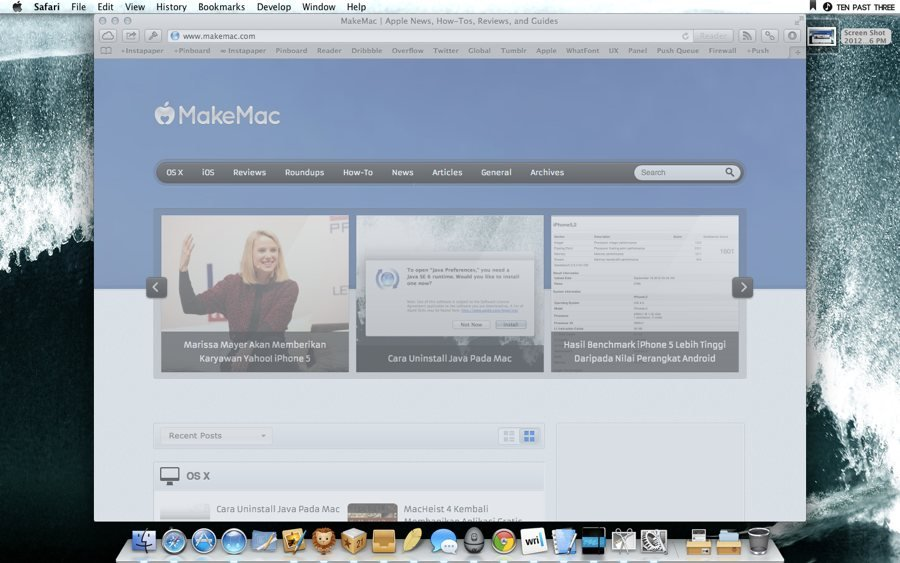 Cara Screenshoot dan Screen Capture di Mac Pro