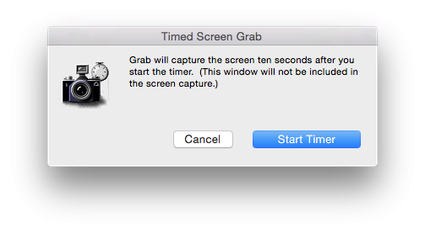 Screen Capture di Mac Pro With timer